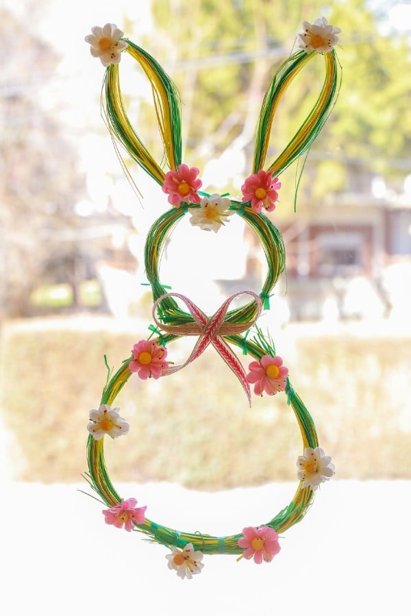 How to Make a Bunny Shaped Easter Wreath