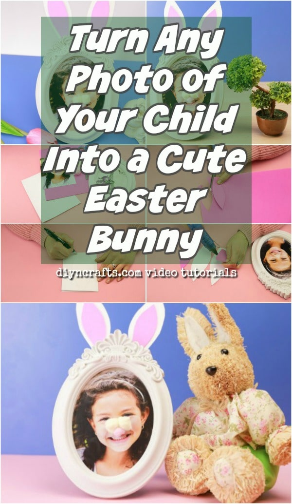 Adorable DIY Easter Bunny Photo Craft