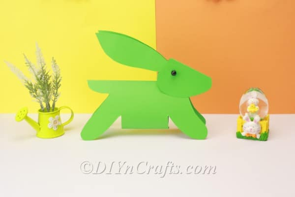 Finished paper bunny project.