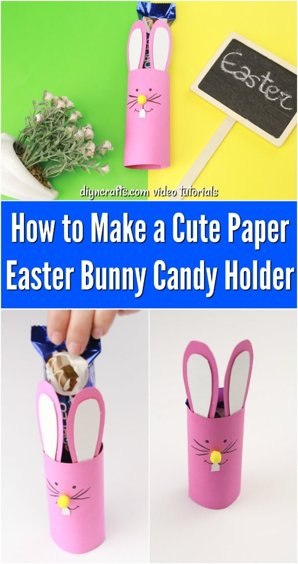 Adorable DIY Easter Bunny Candy Holder