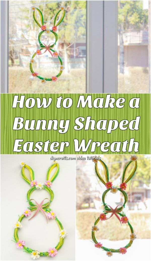 Adorable DIY Easter Bunny Shaped Wreath