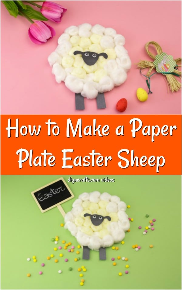 DIY Easter Sheep From Paper Plates