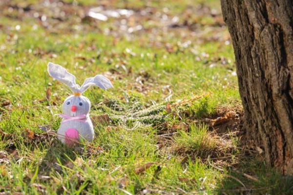 Finished sock bunny.