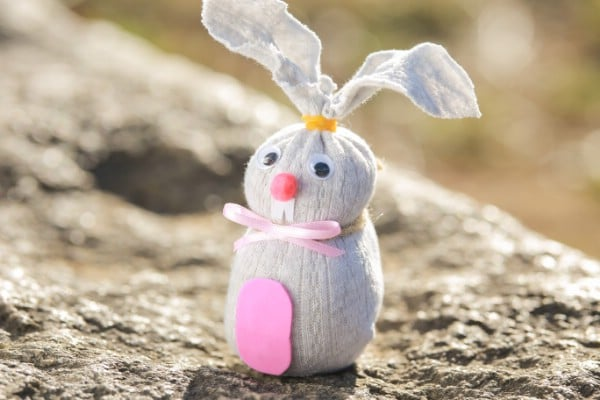 How to Make a Rice Filled Sock Easter Bunny