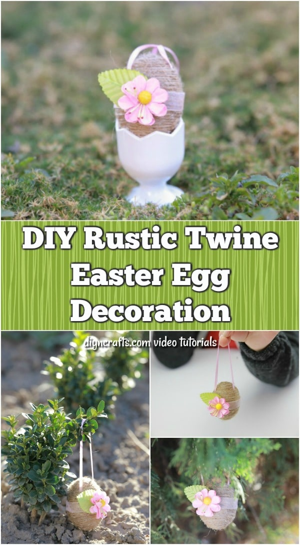 DIY Rustic Twine Easter Egg Decoration