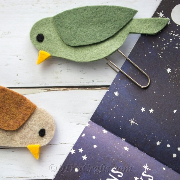 Try different colors of felt to make all sorts of birds