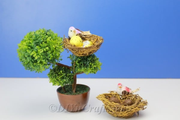 Finished bird's nest candy holder