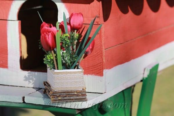 Finished Easter flower decor box.