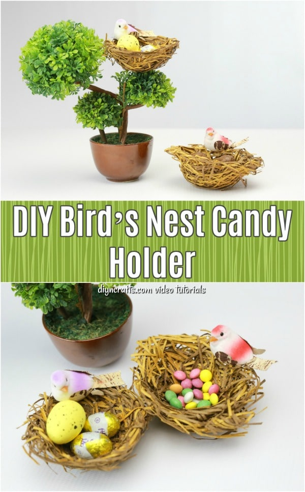 How to Make a Realistic Bird's Nest Candy Holder for Easter