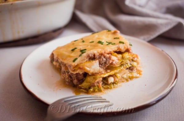 Finished cabbage lasagna – looks just like the real thing
