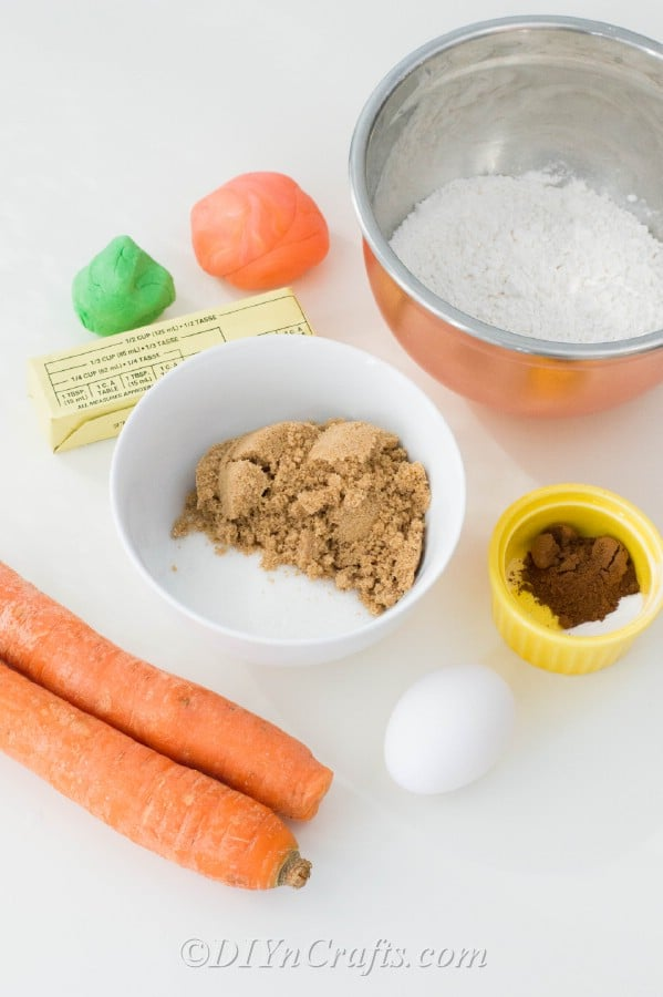 Supplies needed for carrot cake cookies recipe