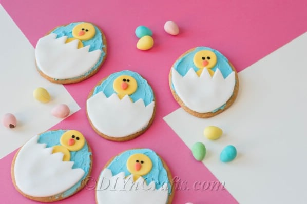 Chick cookies ready for Easter