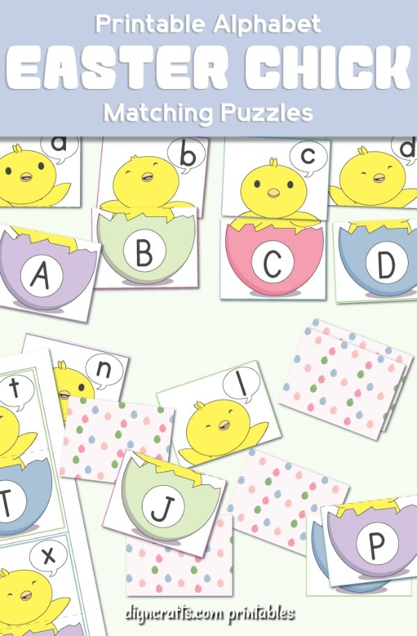 Free printable Easter check matching game