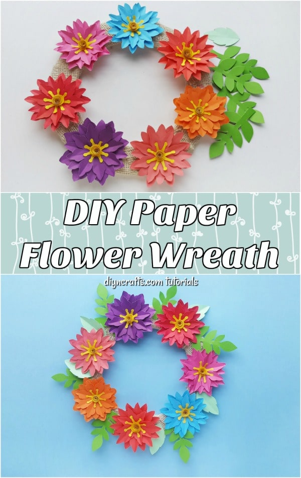 photo about Flowers Printable referred to as Straightforward Paper Flower Wreath With No cost Printable Template - Do it yourself