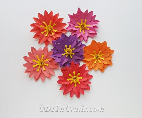 Create as many paper flowers as you want for your spring wreath