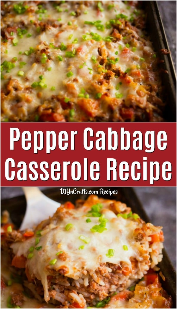 Pepper Casserole Recipe Busy Weeknight Dinner Idea - This pepper casserole is the perfect wholesome family dinner idea for those busy weeknights. With just 10 minutes of prep time, this hardy casserole is simple to make and feeds a crowd. #pepper #casserole #dinner #cabbage