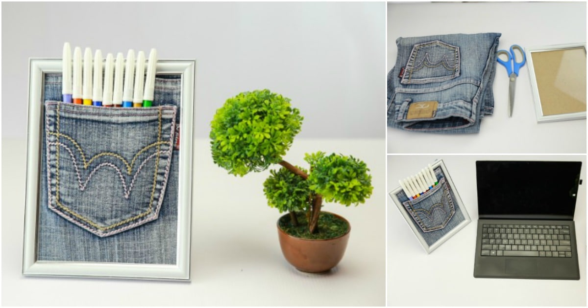 How To Make a Framed Jeans Pocket Organizer