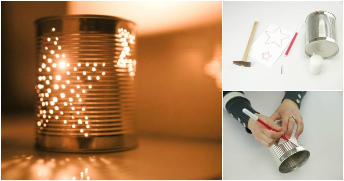 How To Make Gorgeous Diy Tin Can Lanterns Diy Amp Crafts