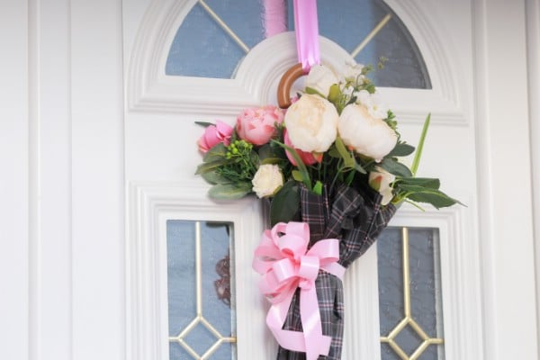 Finished Umbrella Bouquet Door Decoration