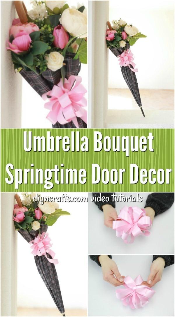 How to Make an Umbrella Bouquet Door Decoration