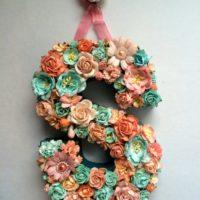 Custom Floral Letter Monogram