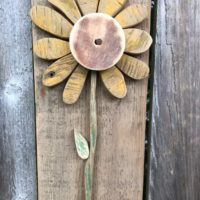 Primitive sunflower wall art