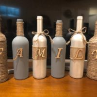 Wine bottle rustic decor