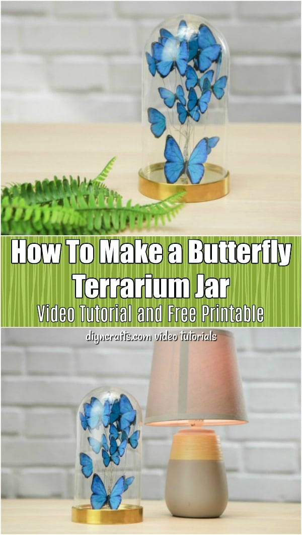 How To Make a Butterfly Terrarium Jar - Turn an empty jar and a few craft supplies into a gorgeous DIY butterfly jar. This easy step-by-step tutorial shows you how to make your own jar of butterflies.