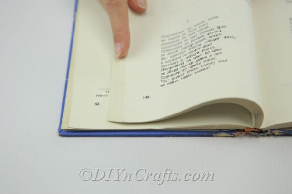 Marks on book pages for folding
