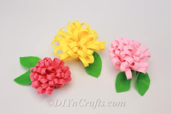 Flowers made from felt