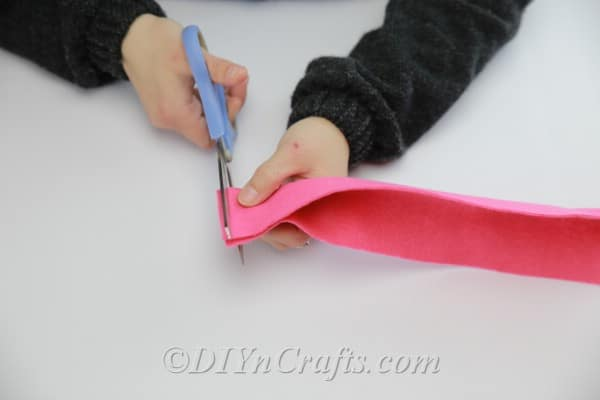 Cutting lines on folded fabric