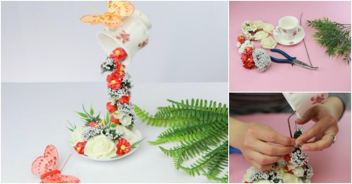 How To Make A Diy Floating Teacup Decoration Diy Crafts