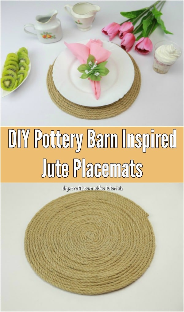 How To Make Your Own Pottery Barn Inspired Jute Placemats