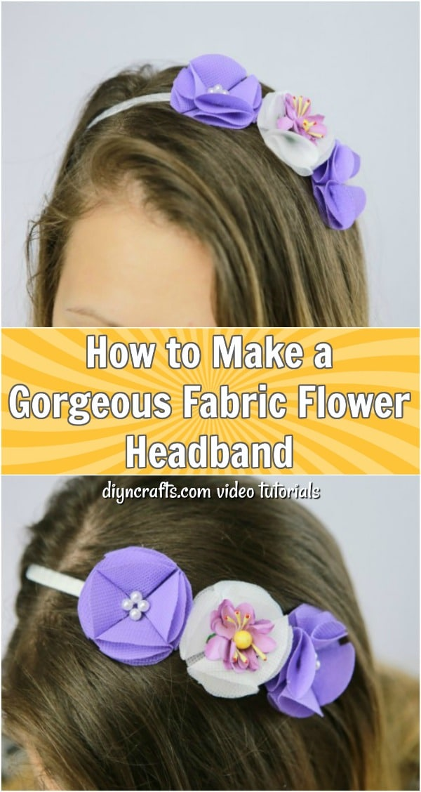How To Make A Gorgeous Fabric Flower Headband - Video tutorial for making this gorgeous headband with fabric flowers. This easy craft is perfect for spring and summer weddings, and it takes only minutes to make.