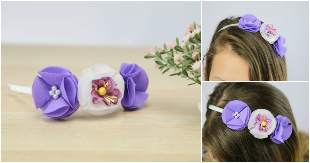 How To Make A Gorgeous Fabric Flower Headband Diy Amp Crafts