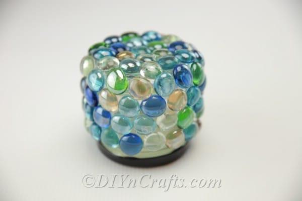 Finished DIY garden treasure jar