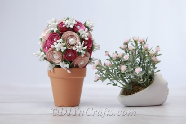 A DIY floral ball with baby's breath flowers