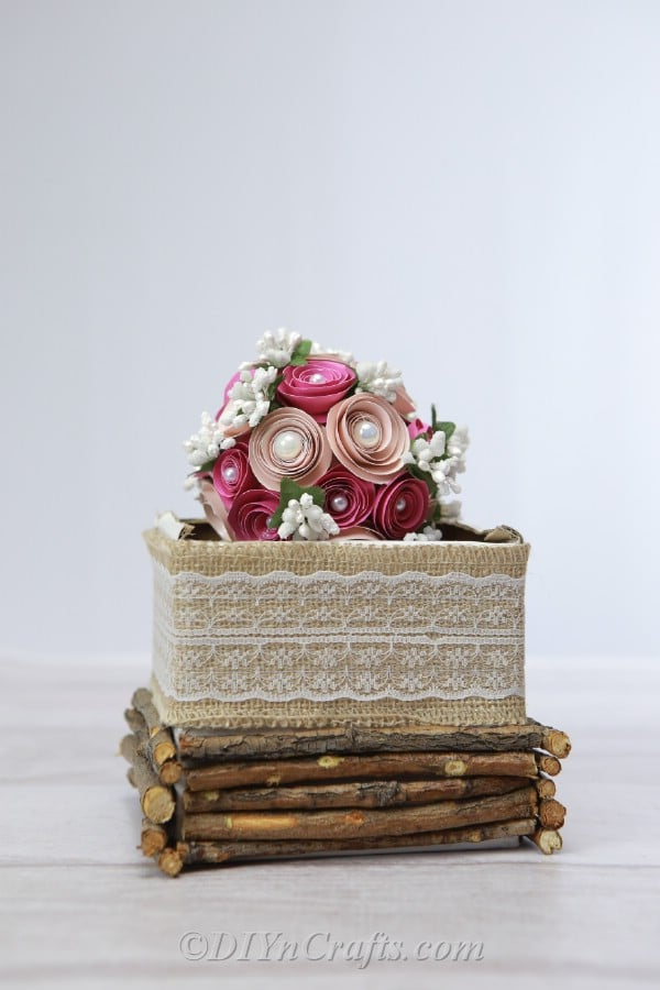 Floral ball on a decorated box