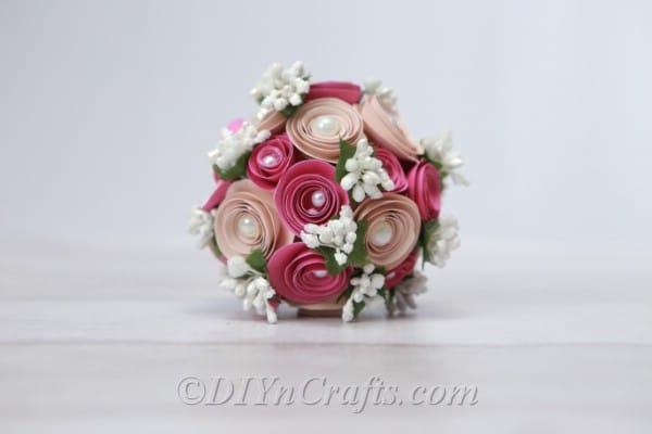 Decorated floral ball for weddings or home decor