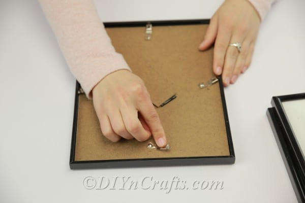 Removing the back from a picture frame
