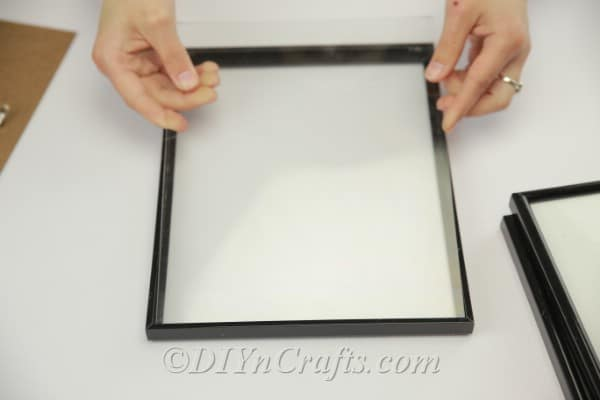 Picture frame without cardboard backing
