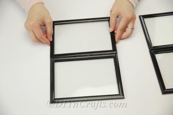 Gluing smaller frames side by side