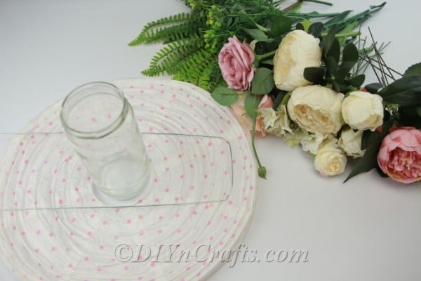 Supplies needed to make a DIY paper lantern centerpiece