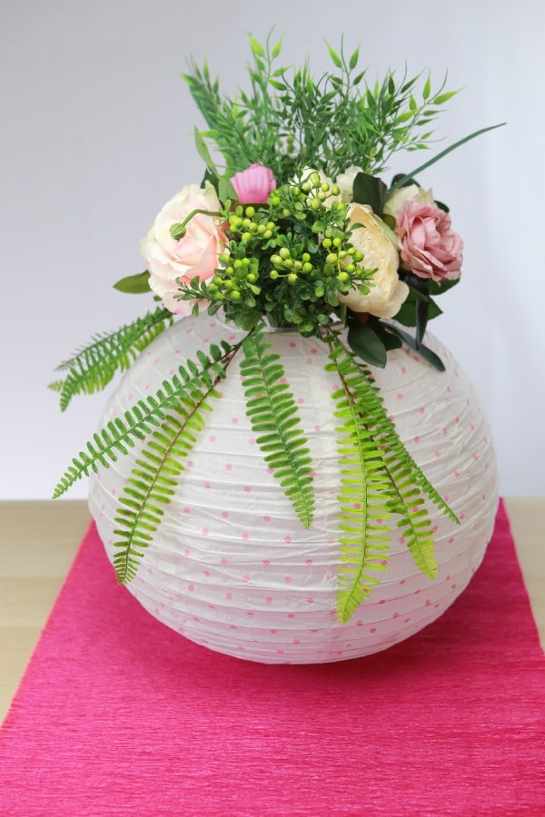 How To Make A Lovely Floral Centerpiece From A Paper Lantern