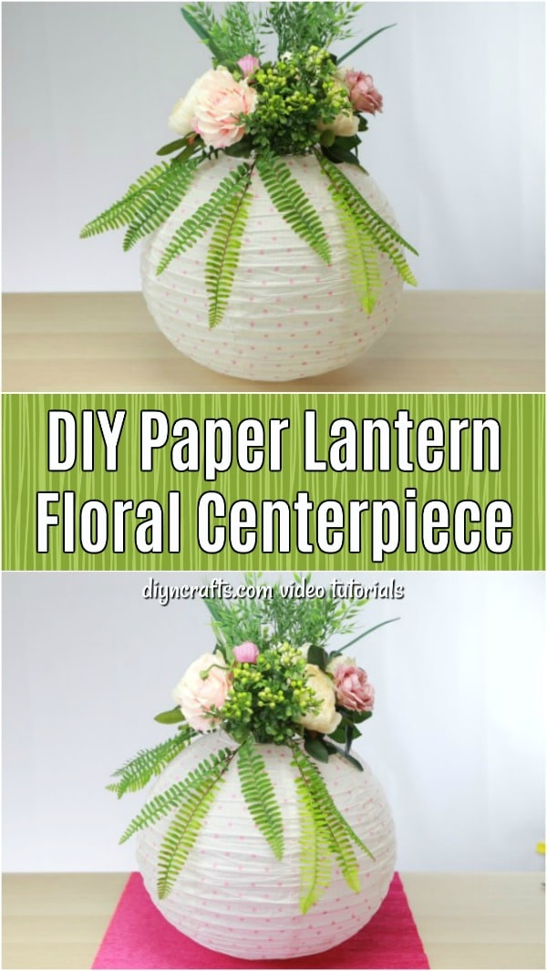 Learn how to make this lovely centerpiece from a paper lantern. Turn an ordinary lantern into a beautiful dining table centerpiece or cheap wedding decoration.
