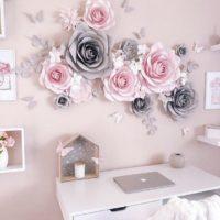 Nursery Paper Flowers Wall Decoration