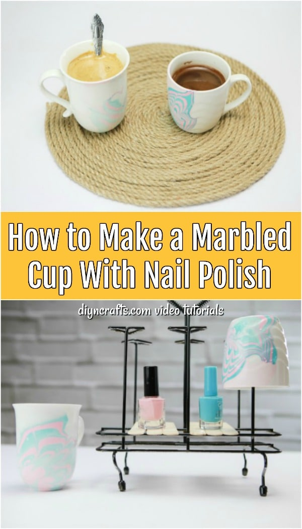 How To Make A Marbled Cup With Nail Polish Diy Crafts