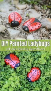Learn how to turn ordinary stones into treasures for your garden. These DIY ladybug rocks are simple to paint and give your outdoors such style!