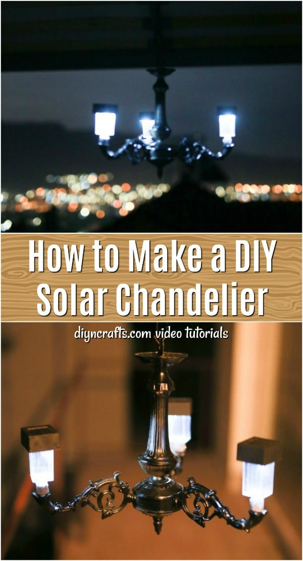 This DIY solar chandelier is really simple to make and it is the perfect addition to your garden. You can make this from a repurposed old chandelier and just a few Dollar Store supplies.
