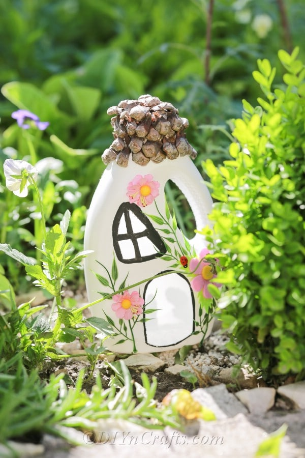 Fairy house placed in the garden